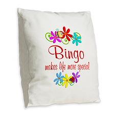 Bingo is Special Burlap Throw Pillow