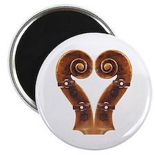 "Violin Scroll Heart 2.25"" Magnet (10 pack)"