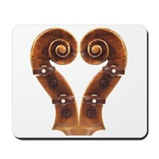 Violin Scroll Heart Mousepad