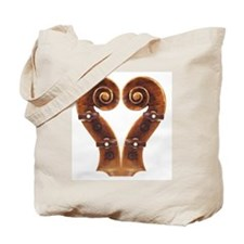 Violin Scroll Heart Tote Bag