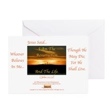 I Am The Resurrection 1 Greeting Cards (Package of