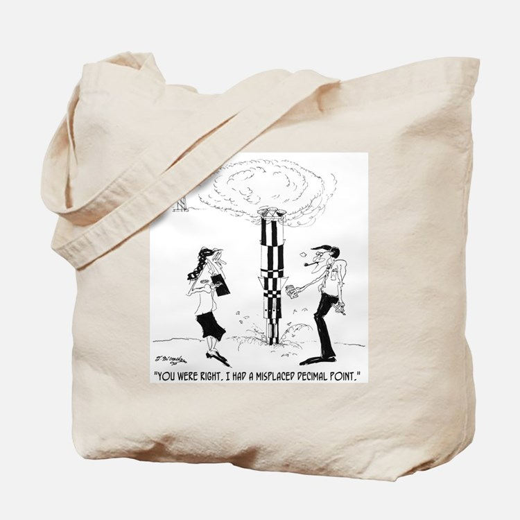 Misplaced Decimal Point Tote Bag