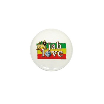 Jah Love Mini Button (10 pack)
