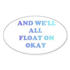 float on Oval Decal