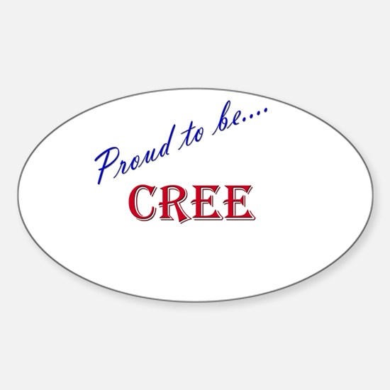 Cree Oval Decal