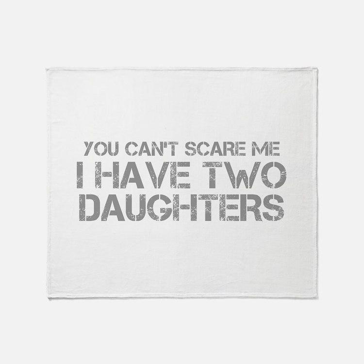two-daughters-CAP-GRAY Throw Blanket