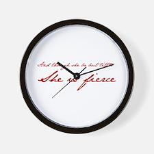she-is-fierce-JAN-RED Wall Clock