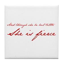 she-is-fierce-JAN-RED Tile Coaster