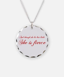she-is-fierce-cho-red Necklace