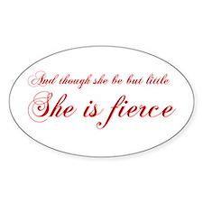 she-is-fierce-cho-red Decal