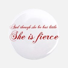 "she-is-fierce-cho-red 3.5"" Button"