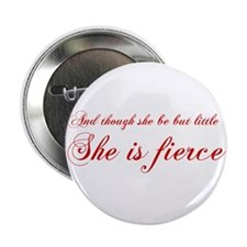 "she-is-fierce-cho-red 2.25"" Button"