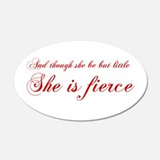 she-is-fierce-cho-red Wall Decal