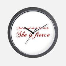 she-is-fierce-cho-red Wall Clock