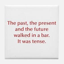 PAST-PRESENT-opt-red Tile Coaster