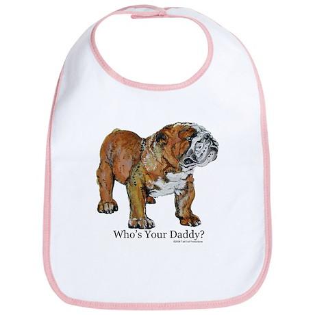Bulldog Daddy Bib
