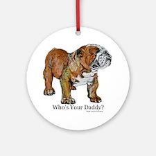 Bulldog Daddy Ornament (Round)