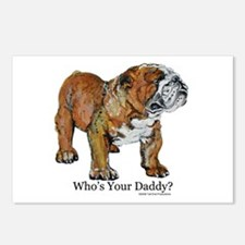 Bulldog Daddy Postcards (Package of 8)