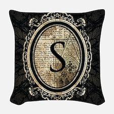 MONOGRAM Gothic Frame Woven Throw Pillow