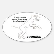 Single Zoomer Oval Decal