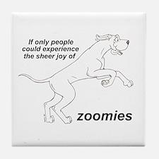 Single Zoomer Tile Coaster
