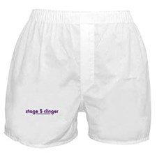 Stage 5 Clinger - White Produ Boxer Shorts