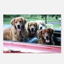 Summer Drive Golden Retriever Postcards (Package o