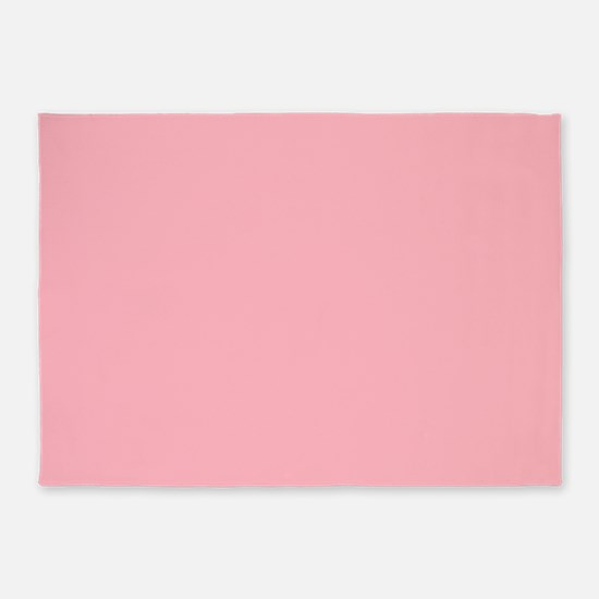 solid color millennial pink ffb6c1 rug large 5'x7'