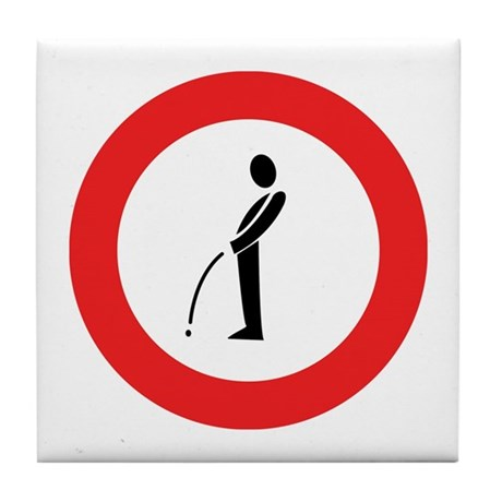 No Peeing On The Street - Holland Tile Coaster