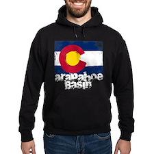 Arapahoe Basin Grunge Flag Hoodie