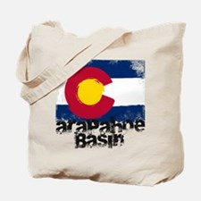 Arapahoe Basin Grunge Flag Tote Bag