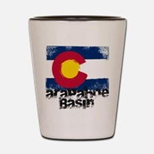 Arapahoe Basin Grunge Flag Shot Glass