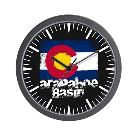 Arapahoe Basin Grunge Flag Wall Clock