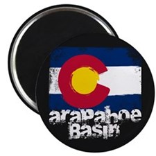 Arapahoe Basin Grunge Flag Magnet