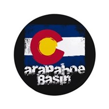 "Arapahoe Basin Grunge Flag 3.5"" Button"