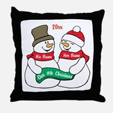 Our Nth Christmas Throw Pillow