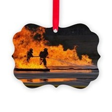 Firefighters take the heat Ornament