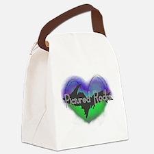 Aurora Pictured Rocks Canvas Lunch Bag