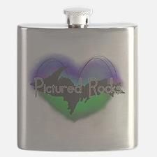 Aurora Pictured Rocks Flask