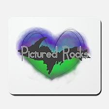 Aurora Pictured Rocks Mousepad