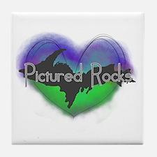 Aurora Pictured Rocks Tile Coaster
