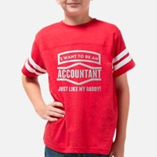 Cute Accountant dad Youth Football Shirt
