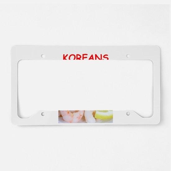 korea License Plate Holder