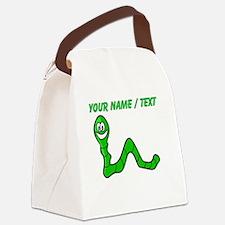 Custom Cartoon Inchworm Canvas Lunch Bag