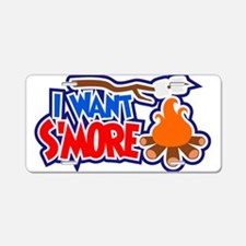 I want Smores Aluminum License Plate