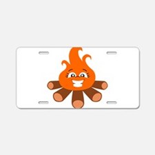 fire smiley Aluminum License Plate