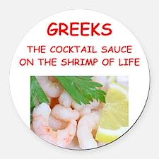 greek Round Car Magnet