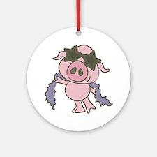 Pig Star Ornament (Round)
