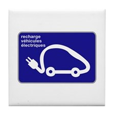 Recharge station for electric cars - France Tile C