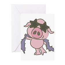 Pig Star Greeting Cards
